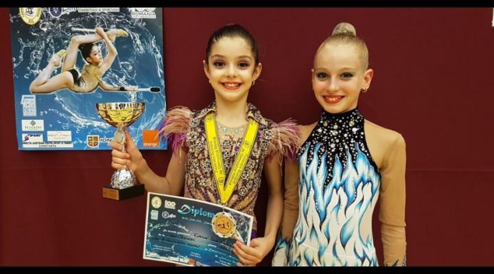 Gimnastele Sabina Enache şi Anisia Drăgan, la Centrul Naţional Olimpic pentru Junioare de la Arad