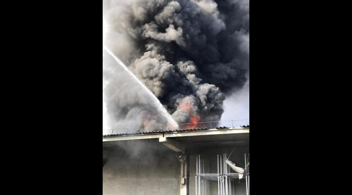 """Prefectura Prahova: """"Urmare a discuțiilor din cadrul ședinței CJSU, s-a constatat că nu au fost depășite valorile limită admise la indicatorii analizați în aer"""", în urma incendiului din Mimiu"""
