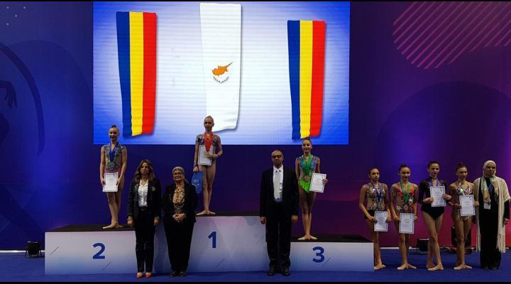 """Gimnastele Denisa Stoian şi Miruna Ciocîrlan, 6 medalii obţinute la """"Heliopolis Tournament"""""""