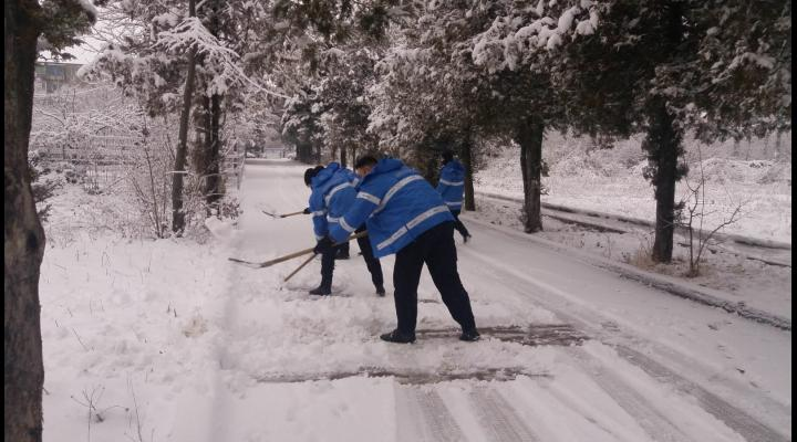 Jandarmii prahoveni, chemati in ajutor pentru deszapezire