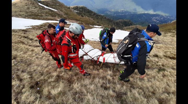 Cadavrul bărbatului găsit pe munte, la Sinaia, identificat