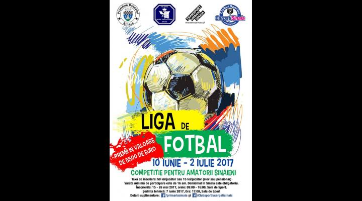 """Începe  """"Liga de Fotbal"""" pentru amatori de la Sinaia"""