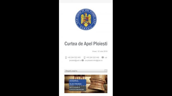 A devenit operațional noul site al Curții de Apel Ploiești