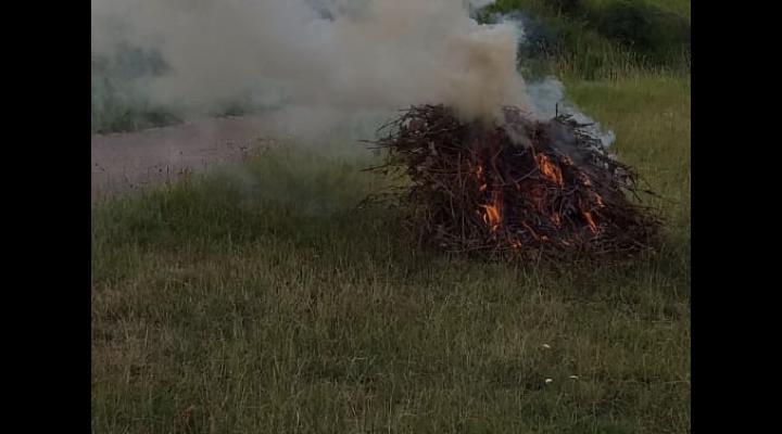 Incendii de vegetatie uscata in Prahova. Cum sunt sanctionati cei care nu respecta legea cand utilizezaza focul deschis pentru curățarea terenurilor