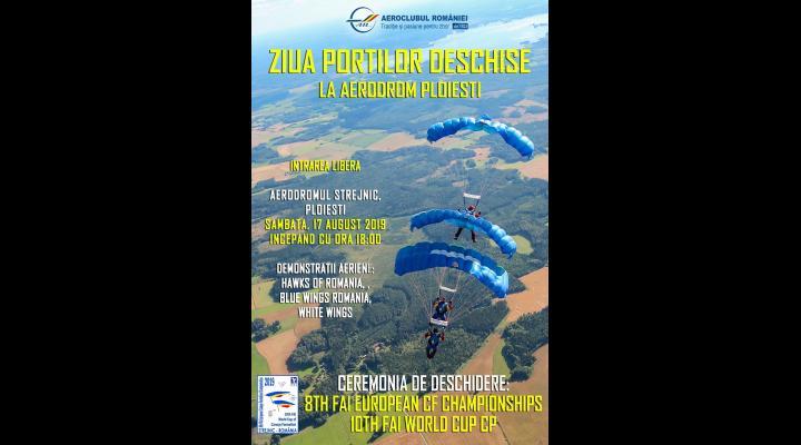 Ziua Portilor Deschise la Aerodromul Strejnic unde vor avea loc si Campionatele Europene si Cupa Mondiala de Parasutism