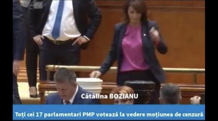 """Catalina Bozianu, deputat PMP: """"Prin votul nostru, am scăpat, astăzi, România de un guvern incompetent, incoerent și, în ultimele luni, ilegitim"""""""
