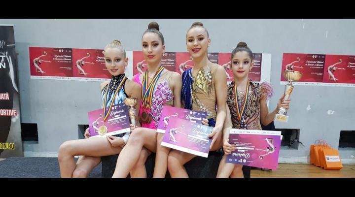 Gimnastică ritmică: CSM Ploieşti, din nou campioană naţională de junioare în concursul pe echipe