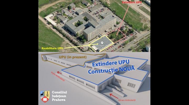 Încep lucrările de extindere și modernizare la Unitatea Primiri Urgențe (UPU), din incinta Spitalului Județean de Urgență (SJU) Ploiești