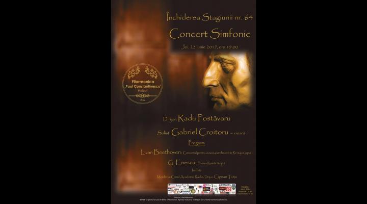 Final de stagiune la Filarmonica Paul Constantinescu! Vezi ce concert a pregătit orchestra