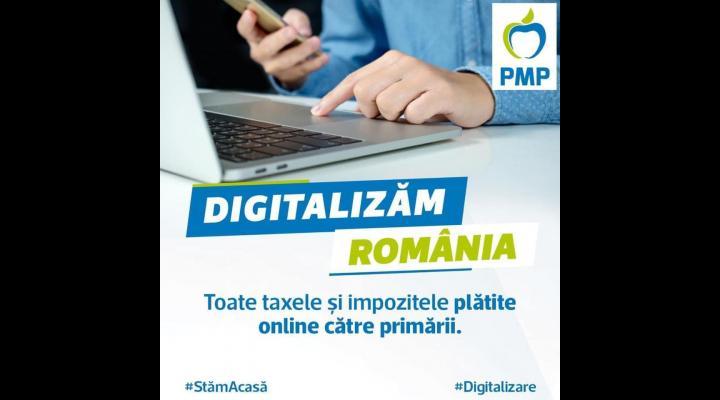 PMP propune plata online a tuturor taxelor și impozitelor locale către primării  și decontarea de stat a primei semnături electronice