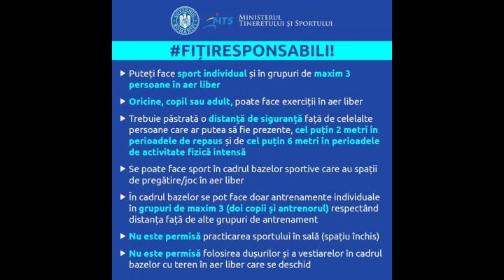 Cum se poate practica sportul după 15 mai?  Ministerul Tineretului și Sportului: întrebări și răspunsuri