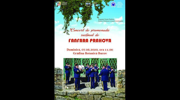 """Concert de promenadă susținut de Fanfara """"Prahova"""", la Grădina Botanică"""