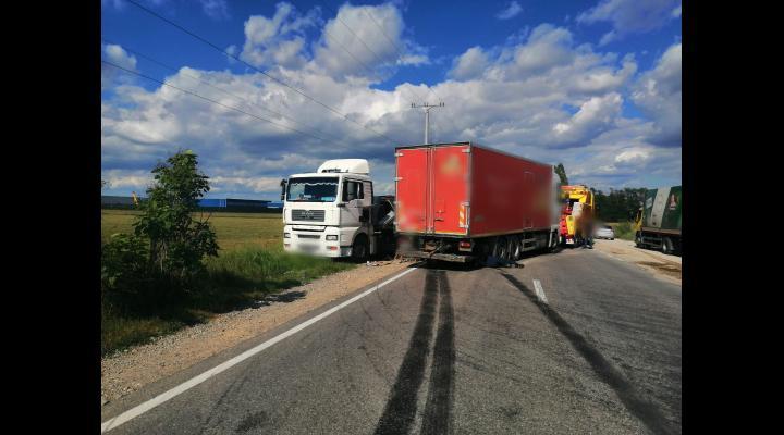 UPDATE FOTO Trafic dirijat, pe DN 72, în urma unui accident rutier
