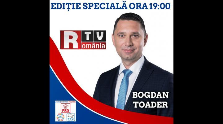 Bogdan Toader, candidatul Alianței pentru Prahova la președinția Consiliului Județean Prahova, invitat special la România TV