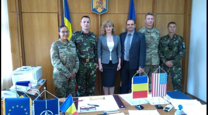 Delegatie militară româno – americană la Prefectura Prahova