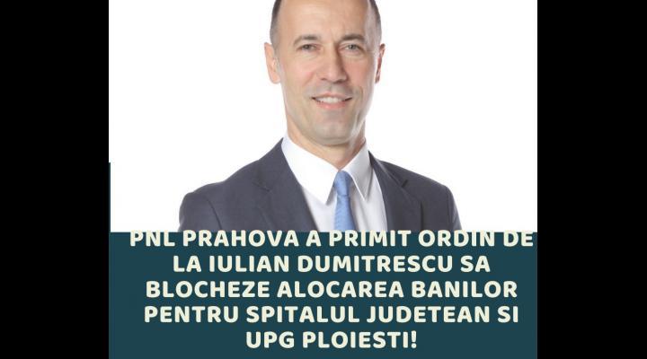PSD Prahova: Liberalii din Consiliul Județean sabotează proiectele pentru prahoveni, la îndemnul șefului lor de la Călărași, Iulian Dumitrescu!
