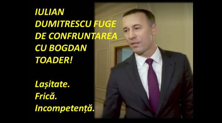 PSD Prahova: Iulian Dumitrescu fuge de confruntarea cu Bogdan Toader