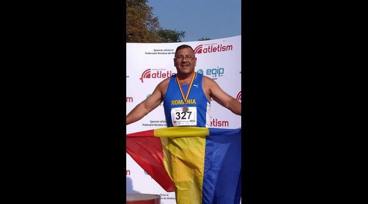 Veteranul I.J.J. PRAHOVA plt. adj. Boboc Gheorghe, pe podium la Campionatul Național de Atletism MASTERS