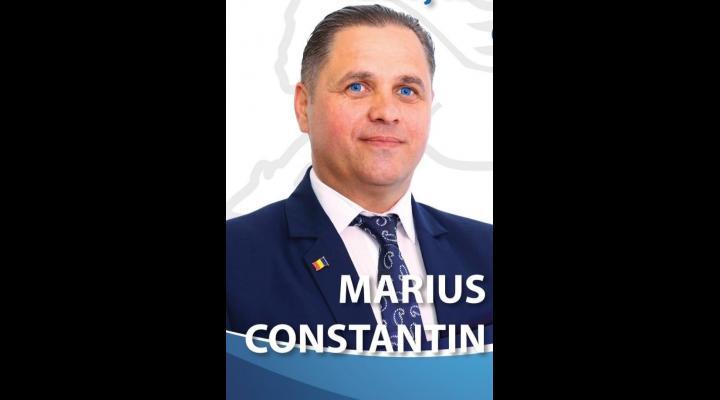 """Marius Constantin: """"Scorul obținut (77%) a demonstrat că, în cei 3 ani de mandat, împreuna cu dumneavoastră am format o echipă performantă cu care mă mândresc"""""""