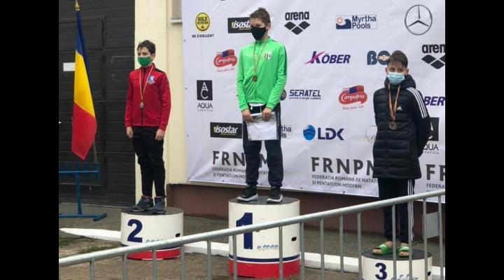 Luca Marinescu, primul campion naţional al secţiei de înot a CSM Ploieşti!