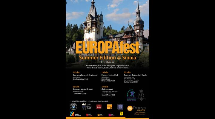 Începe EuropaFest, la Sinaia