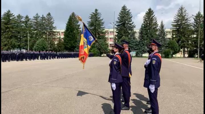 """Elevii de la Școala de Agenți de Poliție """"Vasile Lascăr"""" Câmpina au depus jurământul militar"""