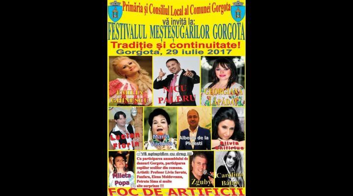 Primăria Gorgota vă invită, sâmbătă, la Festivalul Meșteșugarilor. Nu vor lipsi nici concertele! Vor cânta, pe lângă alți artiști, și Emilia Ghinescu și Nicu Paleru
