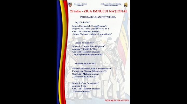 Ziua Imnului Național, programul manifestărilor