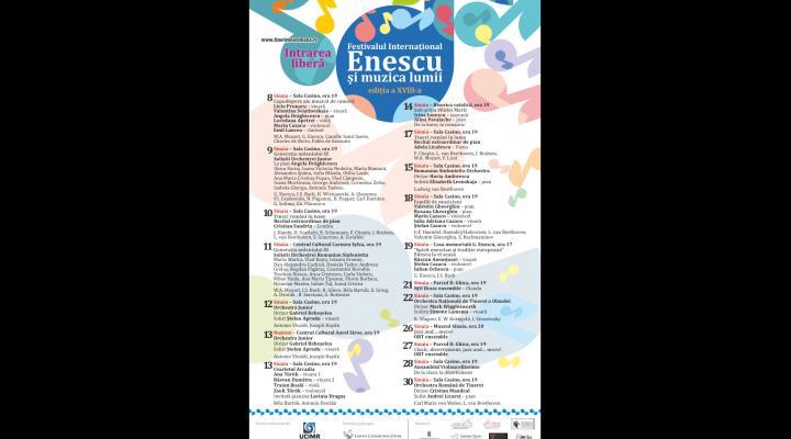 """Primarul orașului Sinaia vă invită la Festivalul Internațional """"Enescu și muzica lumii 2017"""""""