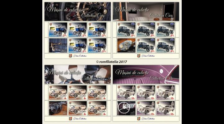 """Romfilatelia dedică pasionaților de automobile de epocă emisiunea de mărci poștale """"Mașini de colecție"""""""