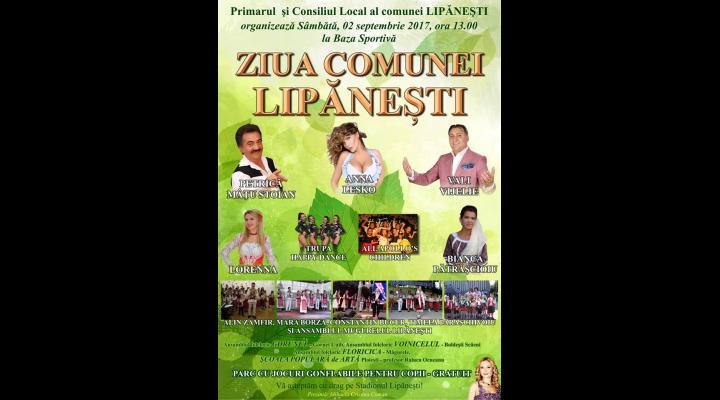 Sărbătoare, sâmbătă, la Lipănești! De ziua comunei, vor cânta, printre alții, Anna Lesko, Petrică Mâțu Stoian și Vali Vijelie