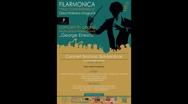 """Noua stagiune a Filarmonicii """"Paul Constantinescu"""" începe joi. Nu rata primul concert care face parte și din Festivalul internațional """"George Enescu""""!"""