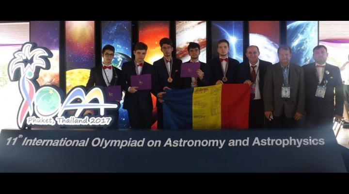 Cinci premii pentru olimpicii români, la Olimpiada Internaţională de Astronomie şi Astrofizică (2017)