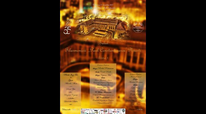 """Filarmonica """"Paul Constantinescu"""" vă invită la """"Balul Filarmonicii"""" - ediţia I. Pe lângă prestațiile muzicale ale formațiilor instituției, participanții sunt invitați și la un dineu cu meniu sofisticat"""