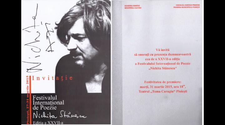 """Incepe Festivalului Internaţional de Poezie """"Nichita Stănescu, vezi programul"""