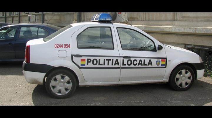 Scandalagii amendați de polițiștii locali, in Ploiesti