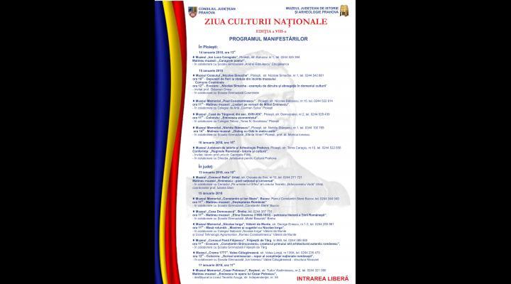 Ziua culturii nationale. Ce evenimente se vor organiza