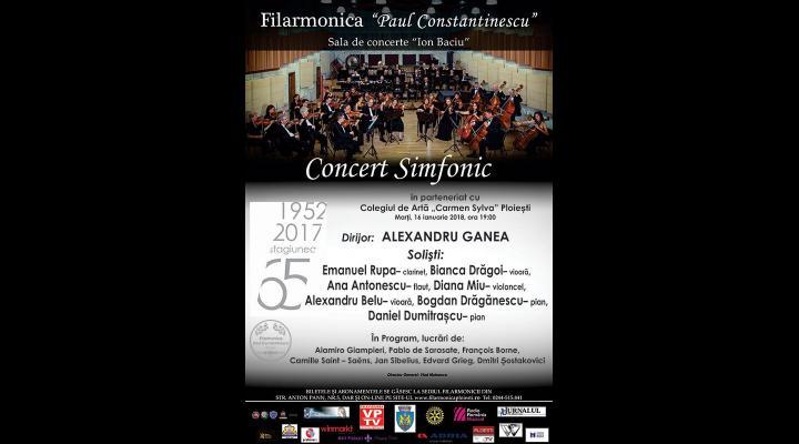"""Mai multi elevi ai Colegiului de Arta  """"Carmen Sylva"""" urca pe scena filarmonicii ploiestene pentru prima data"""