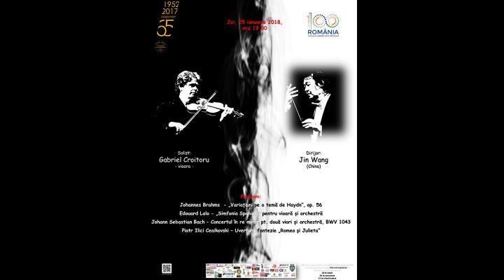 """Filarmonica """"Paul Constantinescu"""" Ploiești : Invitatii concertului simfonic de joi sunt Jin Wang și violonistul Gabriel Croitoru"""