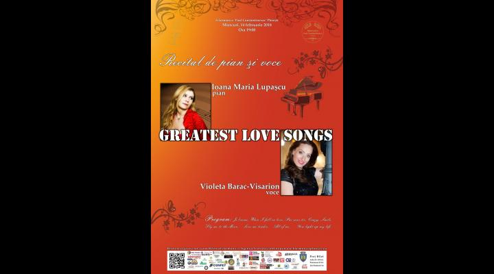 """""""GREATEST LOVE SONGS"""" - Recital de pian şi voce de Ziua Indragostitilor la filarmonica ploiesteana"""