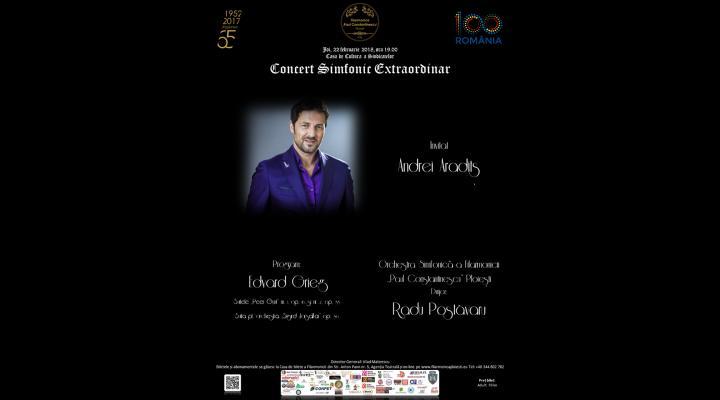 Concert  simfonic  extraordinar, la Ploiesti cu Andrei Aradits invitat special