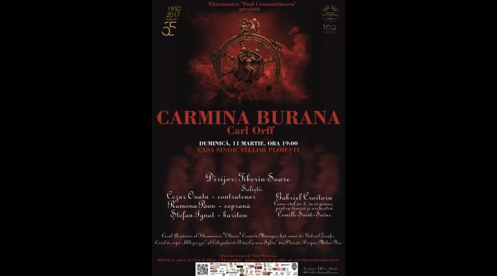 Concert vocal - simfonic extraordinar Carmina Burana, la Ploiesti