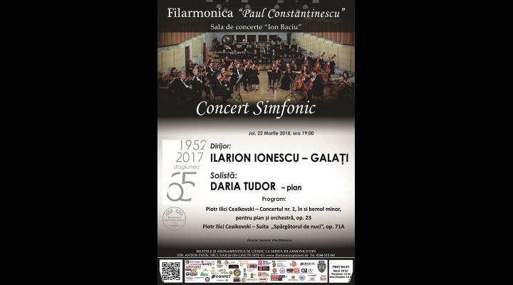 """Seară Piotr Ilici Ceaikovski, la Filarmonica """"Paul Constantinescu"""""""
