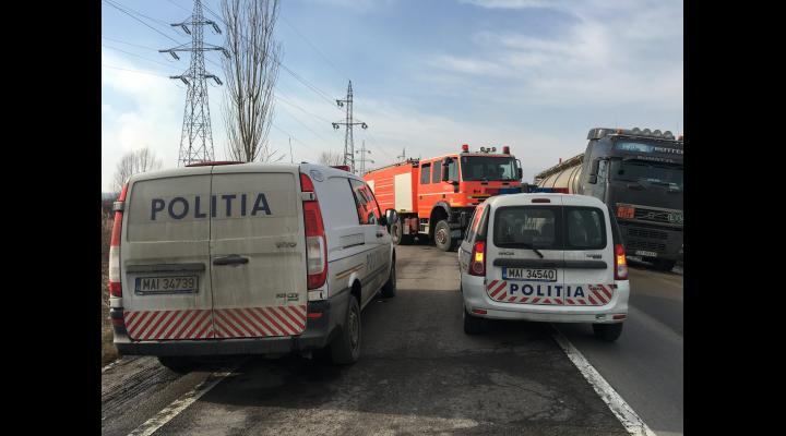 UPDATE Accident in zona Valeni. O persoana inconstienta dupa ce un autoturism s-a rasturnat