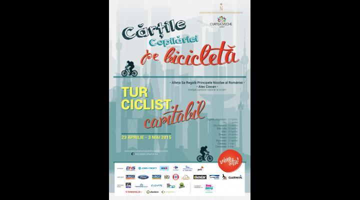 """SINAIA:  Tur ciclist caritabil """"Cărțile copilăriei pe bicicletă"""""""