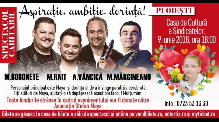 Spectacol caritabil, la Ploiesti, cu Mihai Bobonete, Adrian Vancica, Mihai Rait si Mihai Margineanu