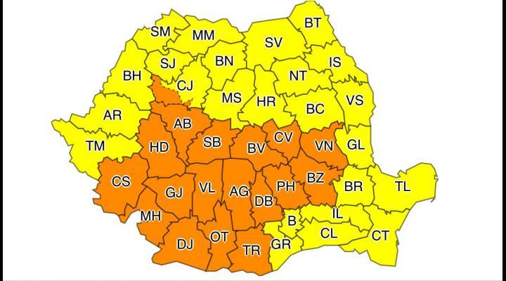 Cod portocaliu de ploi, in Prahova