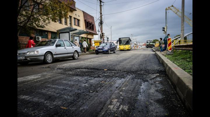 Lucrari pe Strada Constructorilor din Ploiesti
