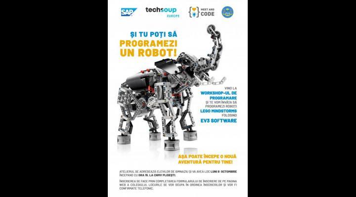 Atelier de  robotică LEGO MINDSTORMS la CNMV Ploiesti. Inscrierile incep azi
