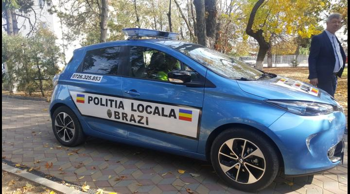 FOTO/VIDEO Politia locala Brazi, dotata cu masina electrica. Cum arata noua achizitie